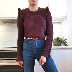 Cynthia Rowley merino wool knit sweater